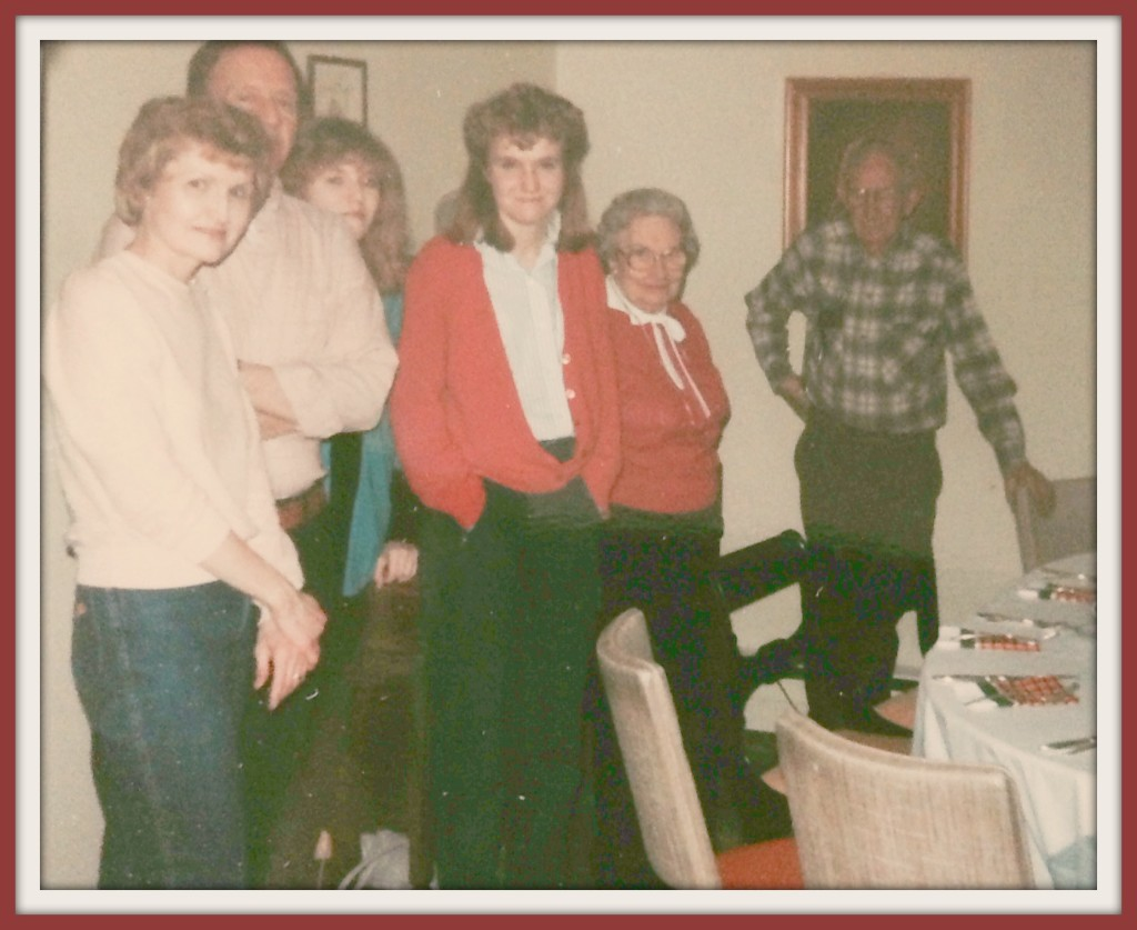 My sister & I, along with my parents and grandparents.
