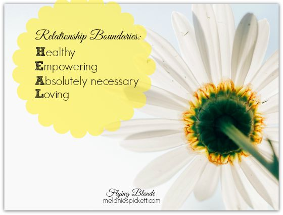 Melanie Pickett. Relationship Boundaries