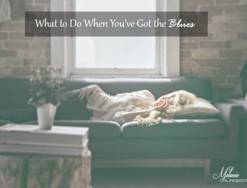 What to Do When You've Got the Blues woman on couch looking sad