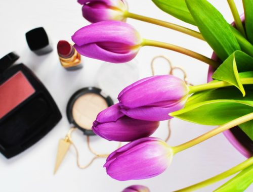 purple tulips and makeup money-saving opportunities on Groupon