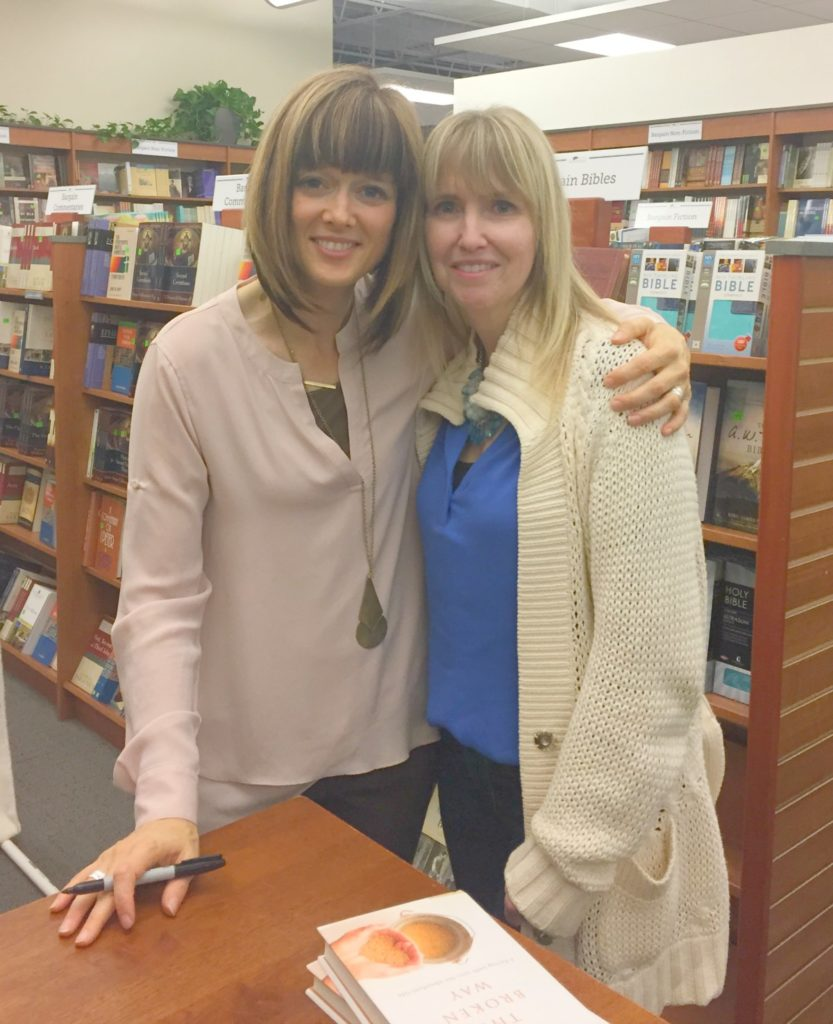 Ann and I at her recent book signing for 'The Broken Way' Ann Voskamp 'The Broken Way' review