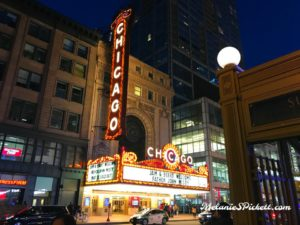 Chicago theatre at night