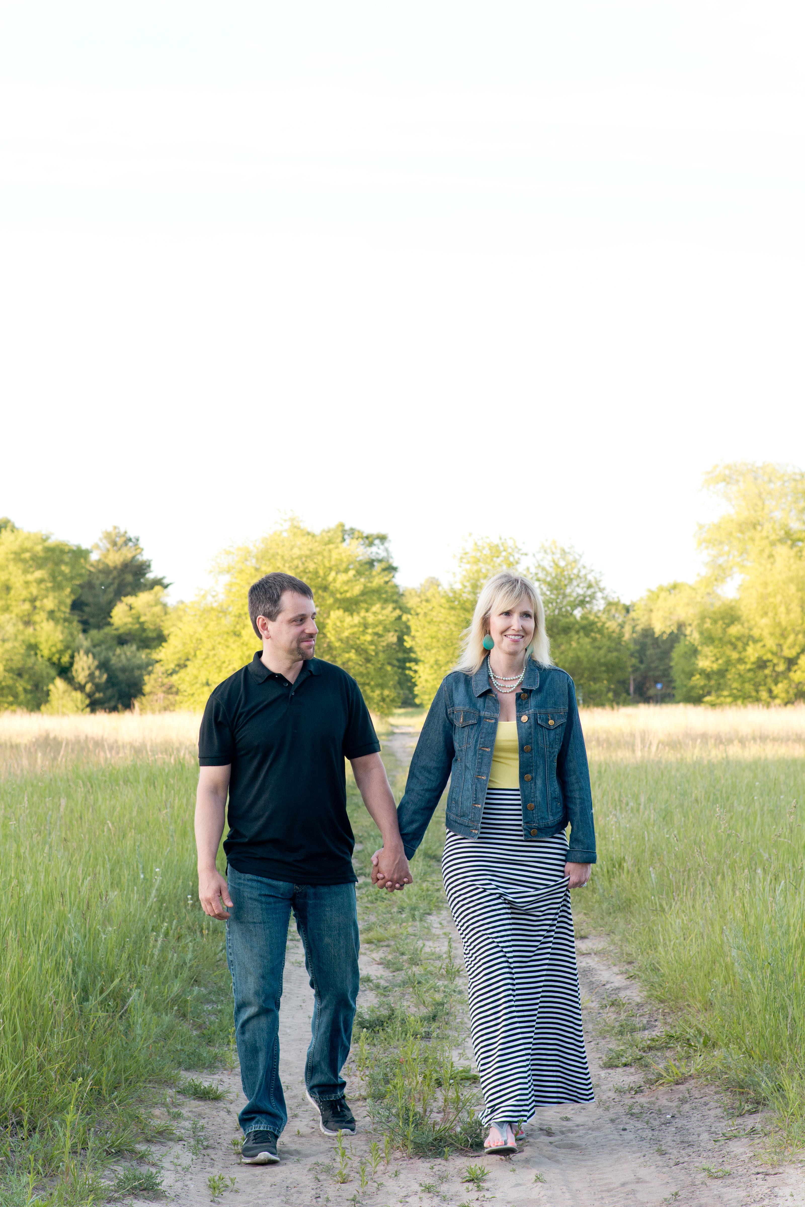 Melanie and her husband. fall in love again